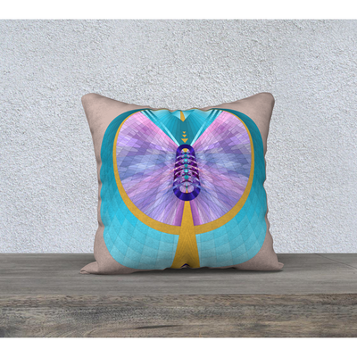 "Pastel pillowcase - Square 18""x18"" - Hathor Design"