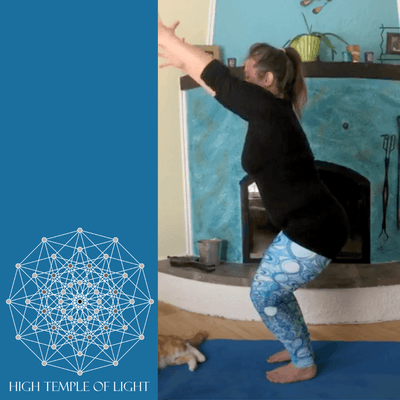 Aqua Blue Mandala Leggings - Water Mandala