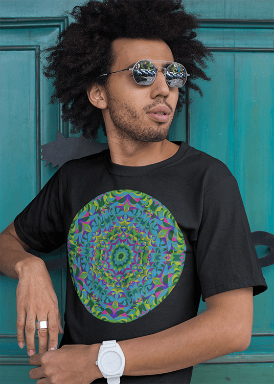 Green Mandala Men's T-Shirt