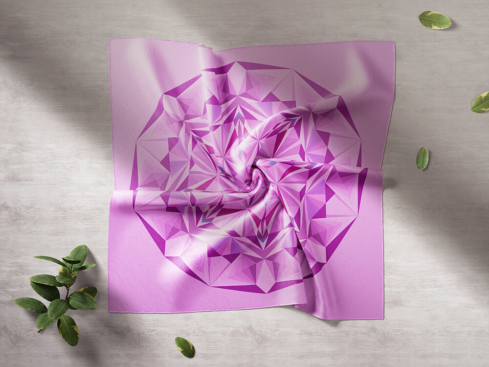 Pink Silk Scarf - Pink Diamond