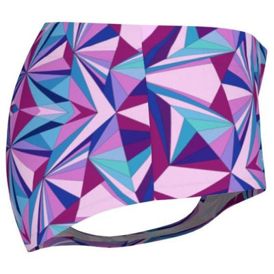yoga pink and blue mini shorts