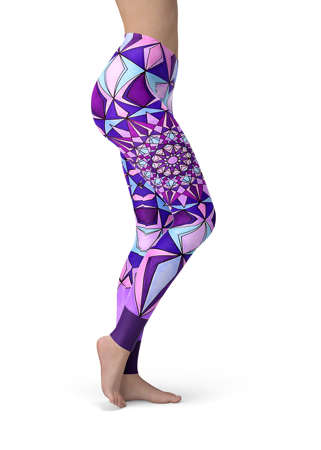 Purple Mandala Leggings - Amethyst Mandala