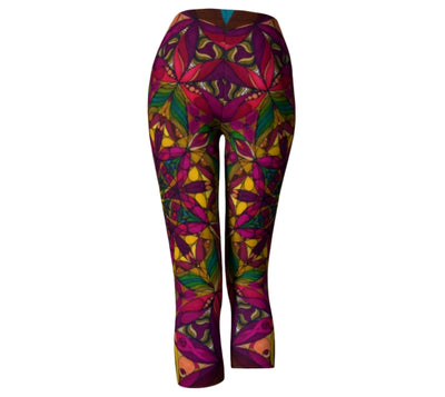 Warm Earth Tones Carpi Leggings - New Gaia Mandala