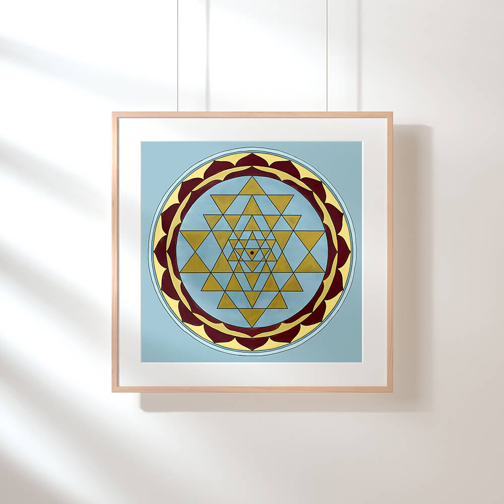 Fine Art Print - Sri Yantra Gold