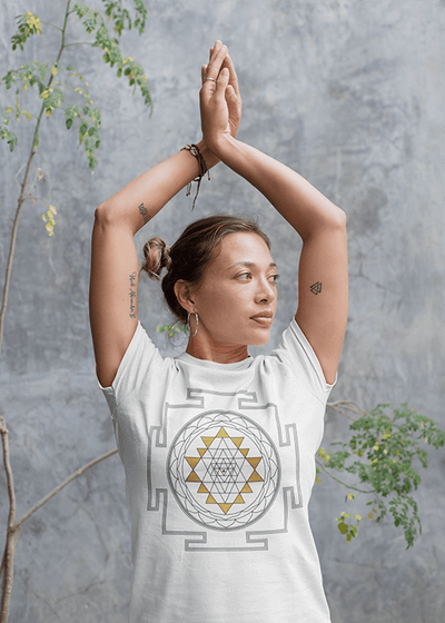 White Sri Yantra T-Shirt