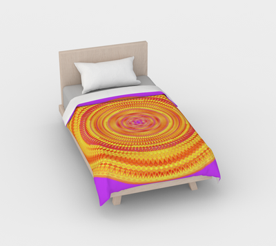 Duvet Cover Bright Pink and Orange Solaris Mandala