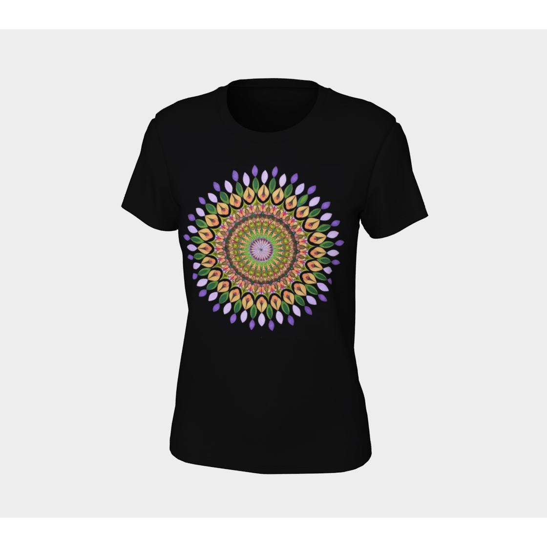Women's Boho T-Shirt - Taïga Mandala-Women's Tee (B+C 6004)-High Temple of Light-High Temple of Light