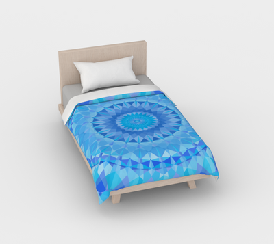 Duvet Blue Diamond Mandala