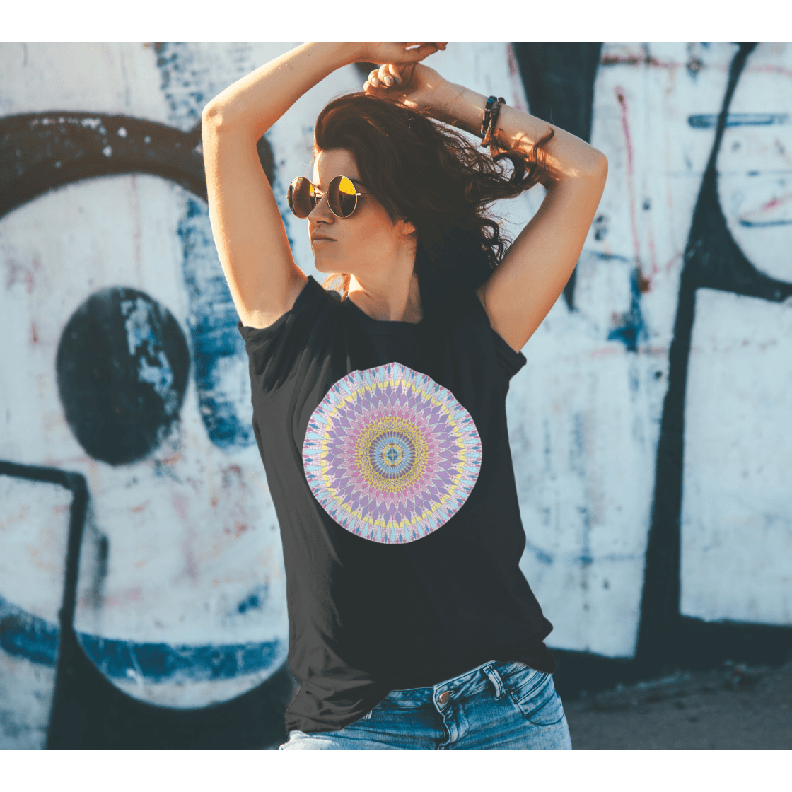 Men's Boho T-Shirts - New Sophia Mandala