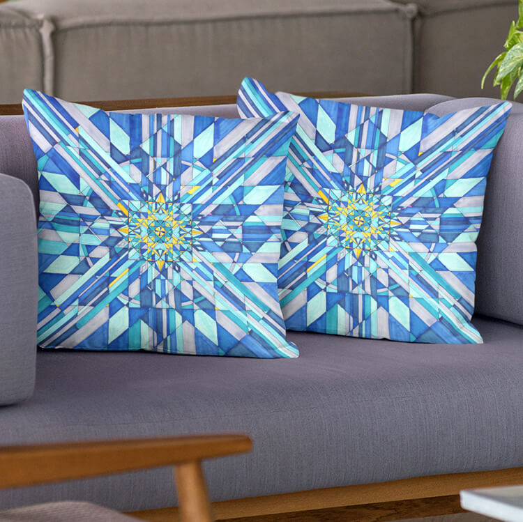 Blue Azure Pillowcase 22x22