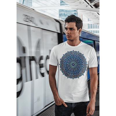 Men's Boho T-Shirt - Seed of Life Mandala