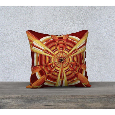 bright red and orange pillowcase
