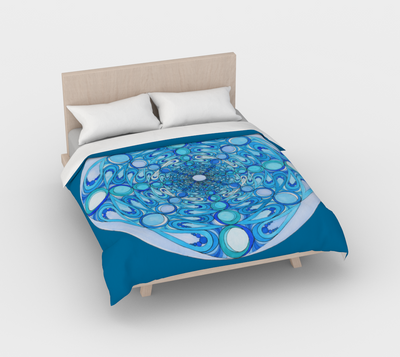 Duvet Cover Blue Water Mandala