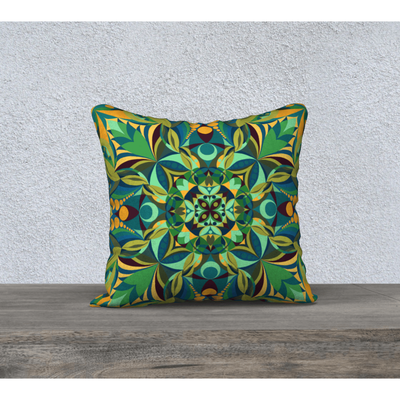 Yellow and Green Square Pillowcase