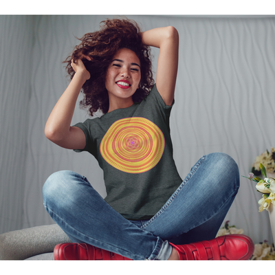 Orange and Yellow Mandala T-Shirt