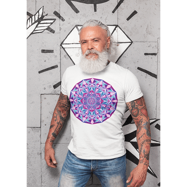 Men's Boho T-Shirt - Diamond Light