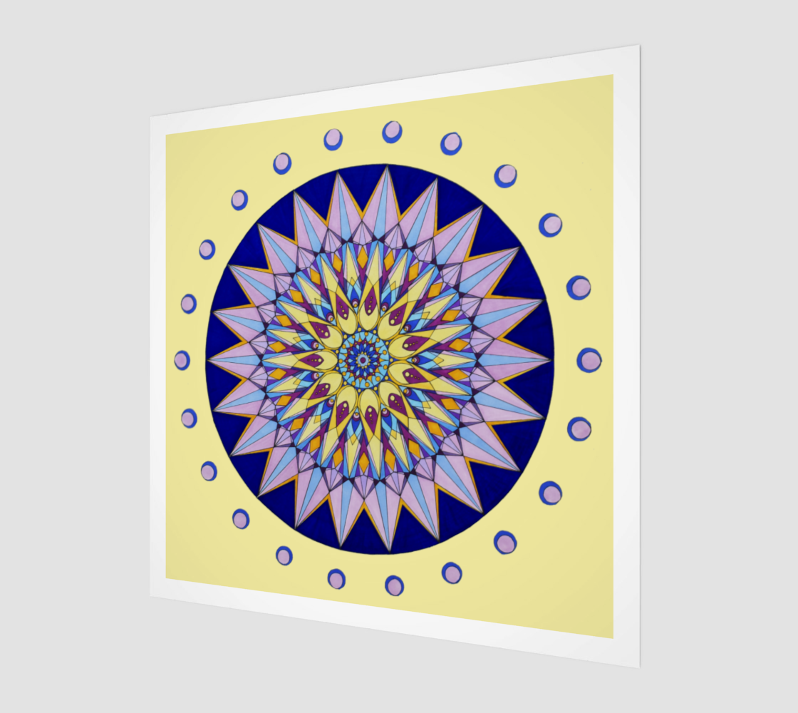 Purple Mandala Art Print