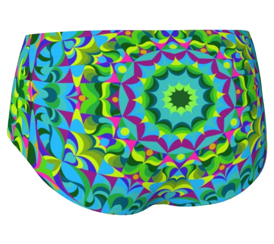 Green and Purple Mini Shorts - Green Ray
