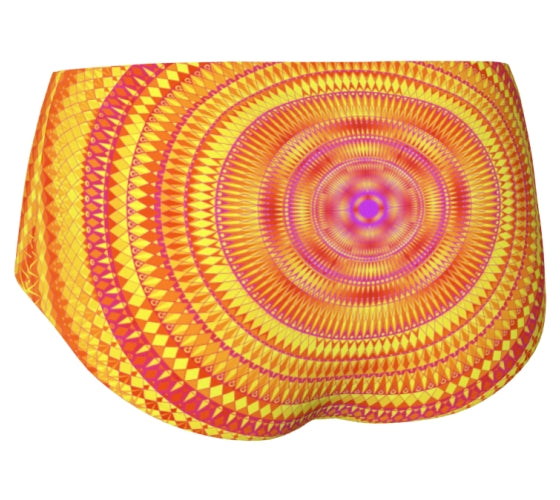 Orange and Pink Mini-Shorts - Solaris Mandala