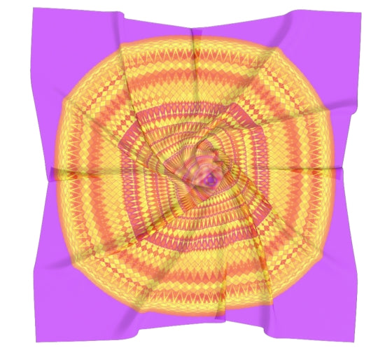 Orange and Pink Silk Scarf - Solaris