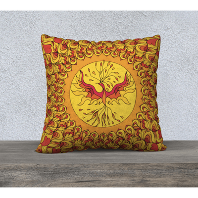 Vibrant phoenix pillowcase