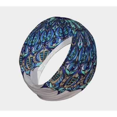 blue yoga headband
