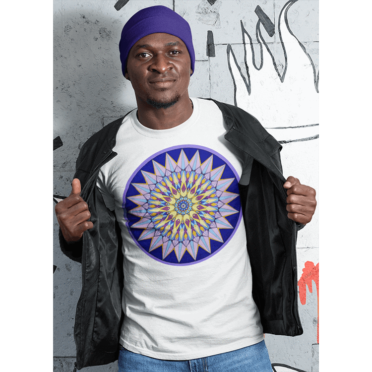 Men's Boho T-shirt - Crown Mandala