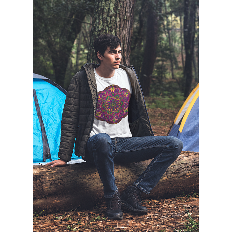 Men's Boho T-shirt - New Gaia Mandala