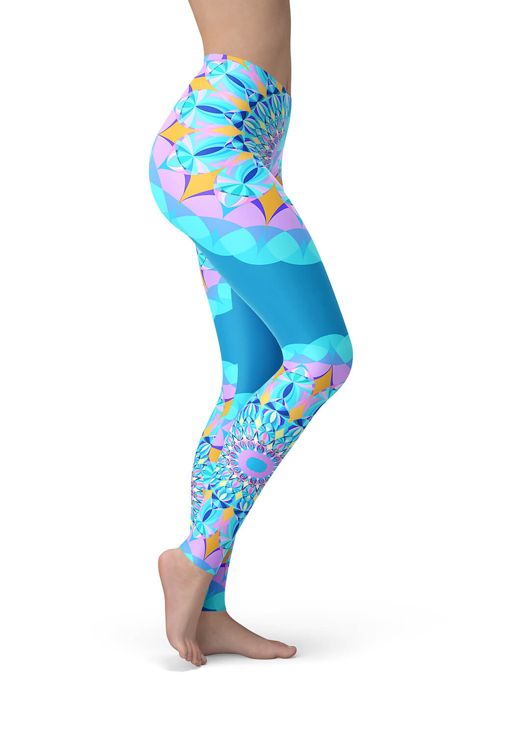 Blue Mandala Leggings - Blue Atlantis Mandala