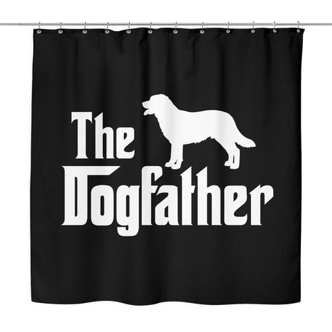 The Dogfather Custom Made Shower Curtain