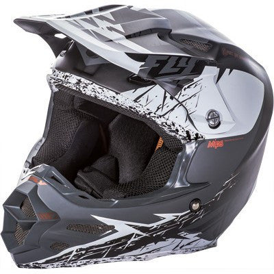 Off Road Helmet - FLY Racing F2 ANIMAL Motocross Helmet Black/White