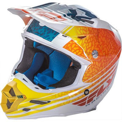 Off Road Helmet - FLY Racing F2 ANIMAL Motocross Orange/White/Teal