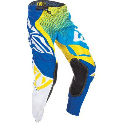 FLY Racing EVO Motocross Pants Blue/Yellow/White