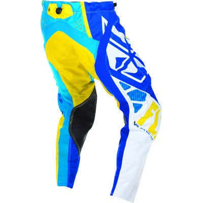 Offroad Apparel - FLY Racing EVO Motocross Pants Blue/Yellow/White
