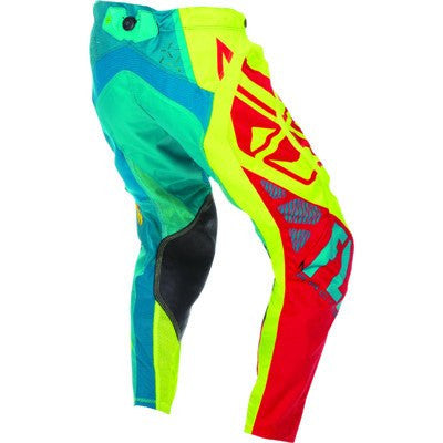 Offroad Apparel - FLY Racing EVO Motocross Pants Teal/Hi-Vis/Red