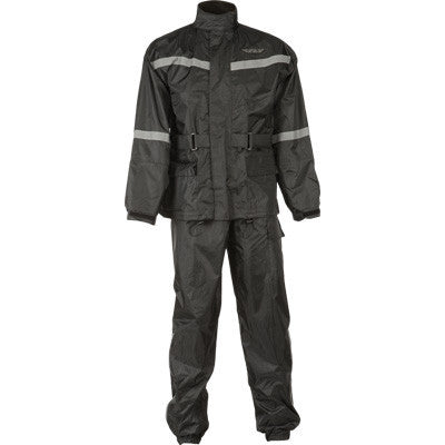 Rain Gear - FLY Street 2-PIECE Black Motorcycle Rain Gear With Pants