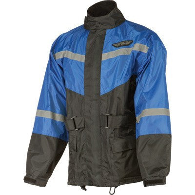 Rain Gear - FLY Street 2-Piece Motorcycle Rain Gear With Pants Blue