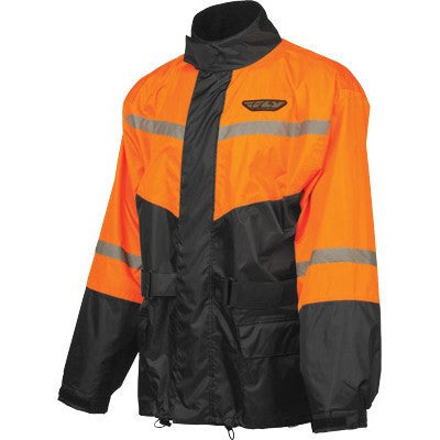Rain Gear - FLY Street 2-Piece Motorcycle Rain Gear With Pants Orange
