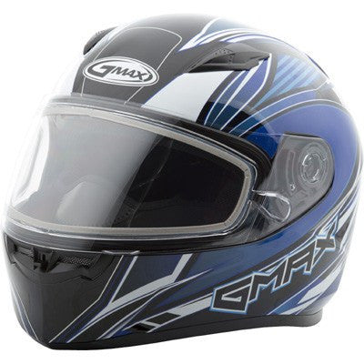 Snow - GMAX FF49 Full Face SEKTOR Cold Weather Motorcycle Helmet Blue/White/Black