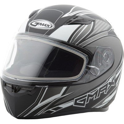 Snow - GMAX FF49 Full Face SEKTOR Cold Weather Motorcycle Helmet Flat Black/Silver