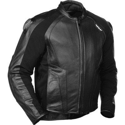 Street Apparel - FLY Apex Motorcycle Jacket Black Leather
