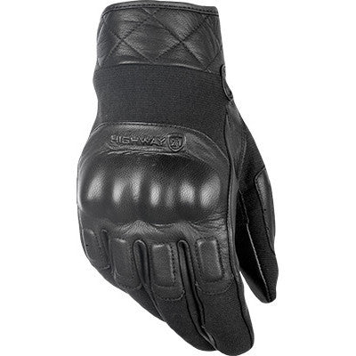 Street Gloves - FLY Street REVOLVER Motorcycle Glove Black Leather