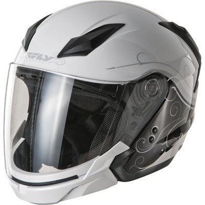 FLY Street TOURIST Cirrus Motorcycle Helmet White/Silver