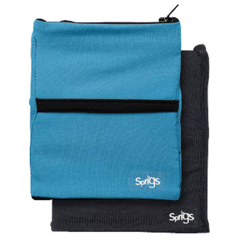 Sprigs Fleece Banjees Wrist Wallet-Turquoise/Black-One Size Fits Most