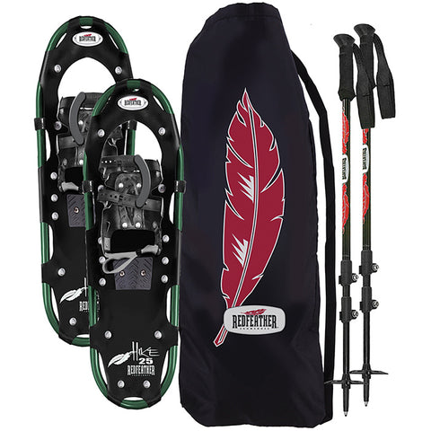 "RedFeather Women's HIKE Recreational Series Snowshoe Kit with SV2 Bindings, Ski Poles and Carry Bag, 7.5"" x 25""- 157510KIT"