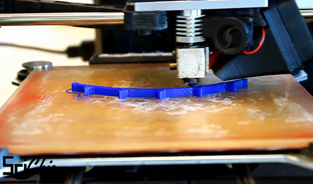 Printing our Cold Front Necklace (Timelapse)