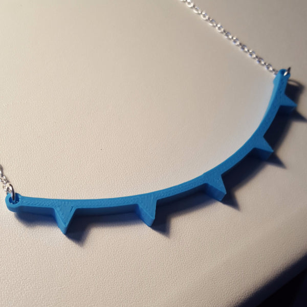 Plastic 3D Printed Front Line Necklace Science Jewelry Meteorology Necklace Weather Necklace Weather Jewelry