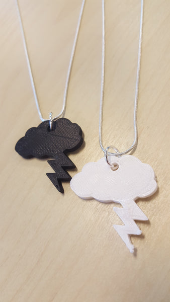 lightning bolt / strike inspired 3D printed necklace