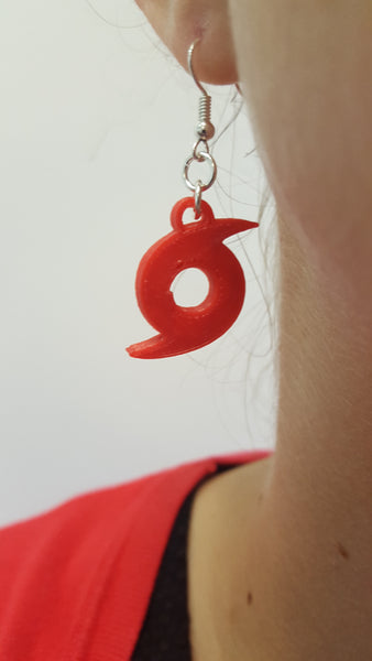 hurricane / typhoon / tropical cyclone 3D printed earrings