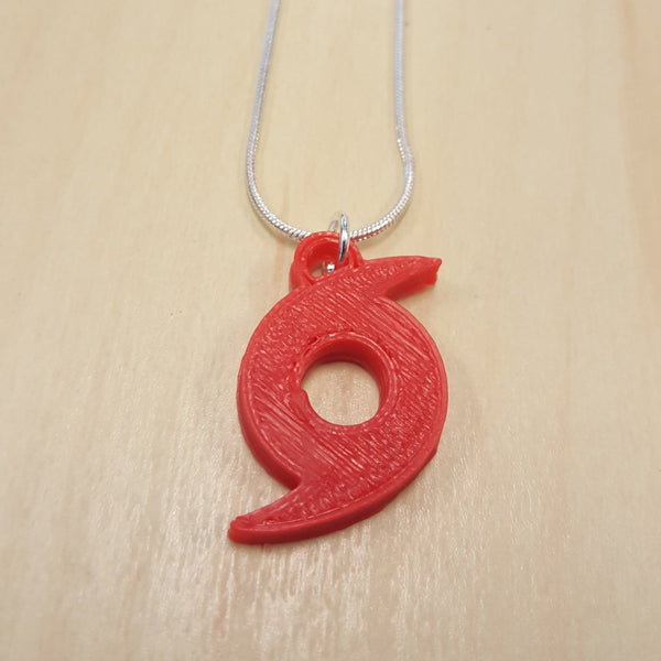 hurricane / typhoon / tropical cyclone 3D printed necklace